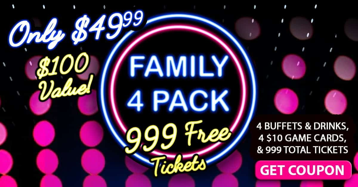 Family 4 Pack – 999 Free Tickets